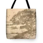 Grape Arbor On Brown Tote Bag