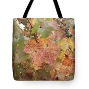 Grape Leaves In The Fall Tote Bag