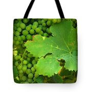 Grape Vine Heavy With Green Grapes Tote Bag