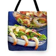 Grapefruit And Shrimp Salad Tote Bag