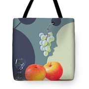 Grapes And Apples Tote Bag