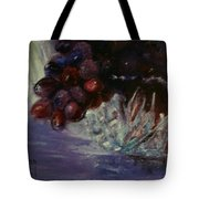 Grapes And Glass Tote Bag
