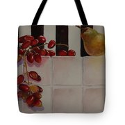Grapes And Pear Tote Bag