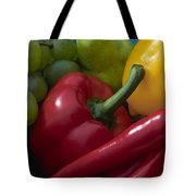 Grapes And Pepper Tote Bag