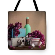 Grapes With Wine Stoppers Tote Bag