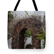 Grapevine Covered Stone Garden Door Tote Bag
