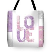 Graphic Art Gold Love - Rose And Violet Tote Bag