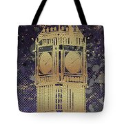 Graphic Art London Big Ben - Ultraviolet And Golden Tote Bag