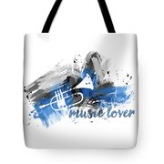 Graphic Art Music Lover - Blue Tote Bag
