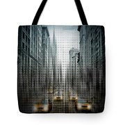 Graphic Art Nyc 5th Avenue Traffic V Tote Bag