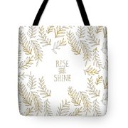 Graphic Art Rise And Shine - Gold And Marble Tote Bag