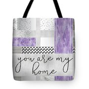 Graphic Art Silver You Are My Home - Violet Tote Bag