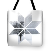 Graphic Art Snowflake Lonely Tree Tote Bag