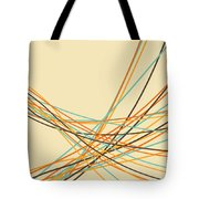 Graphic Line Pattern Tote Bag