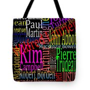 Graphic Prime Ministers Tote Bag
