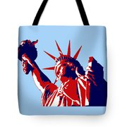 Graphic Statue Of Liberty Red White Blue Tote Bag