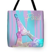 Graphic Style Paris Eiffel Tower Pink Tote Bag by Melanie Viola