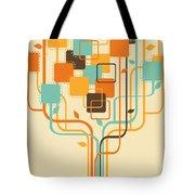 Graphic Tree Tote Bag by Setsiri Silapasuwanchai