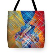 Graphics - Voiceprint, Read My Lips Tote Bag