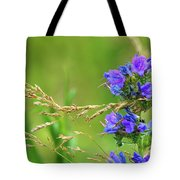 Grass And Flower  Tote Bag