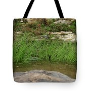 Grass Blades In Water Tote Bag