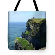 Grass Growing Along The Cliff's Of Moher In Ireland Tote Bag