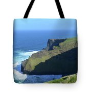 Grass Growing Along The Sea Cliffs In Ireland Tote Bag