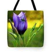 Grass Hopper Having Lunch Tote Bag