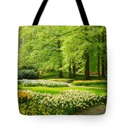 Grass Lawn With Daffodils  Tote Bag