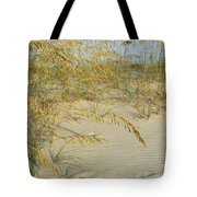 Grass On The Beach Sand Tote Bag