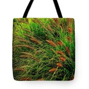 Grasses In The Verticle Tote Bag