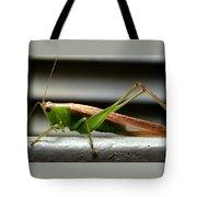 Grasshopper Posing Tote Bag
