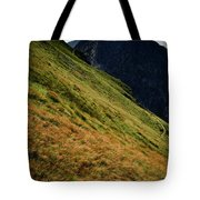 Grassy Before The Top Of The Rocky Hill Tote Bag