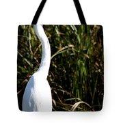 Grassy Egret Tote Bag