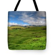 Grassy Meadow South Iceland Tote Bag
