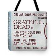 Grateful Dead Ticket - Hampton Coliseum Tote Bag