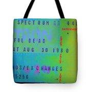 Grateful Dead - Ticket Stub Tote Bag