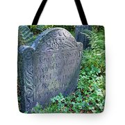 Grave Of Mary Hall Tote Bag by Wayne Marshall Chase
