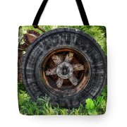 Gravel Pit Goodyear Truck Tire Tote Bag
