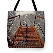 Gravel Pit Grinder Rusty Staircase Tote Bag