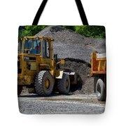 Gravel Pit Loader And Dump Truck 04 Tote Bag