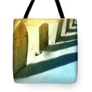 Gravestones In Winter Tote Bag