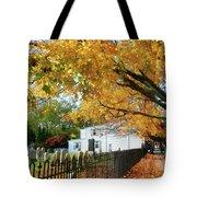 Graveyard In Autumn Tote Bag
