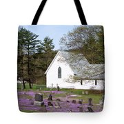 Graveyard Phlox Country Church Tote Bag