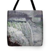 Gray And Cold At American Falls Tote Bag