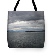 Gray And Gray Tote Bag