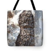 Gray Bark Abstract Tote Bag