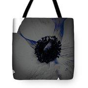 Gray Blue Poppy Tote Bag