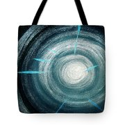 Gray-blue Star. Sparkling Light Tote Bag