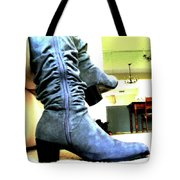 Gray Boots Tote Bag